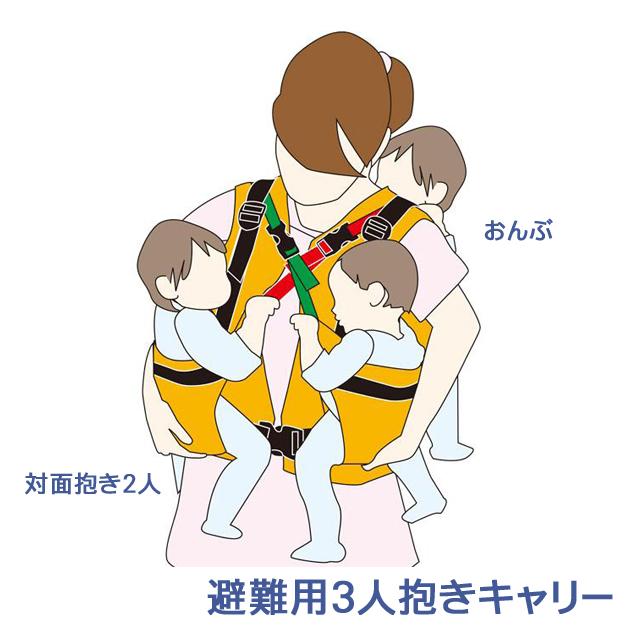 避難用3人抱きキャリー